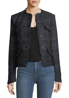 Rag & Bone Indie Snap-Front Tweed Blazer