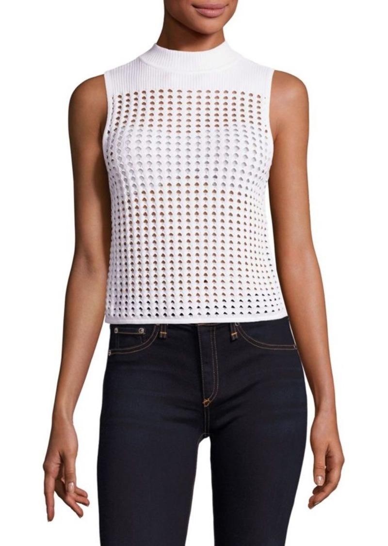 Rag Bone Ingrid Mockneck Open Knit Top Casual Shirts