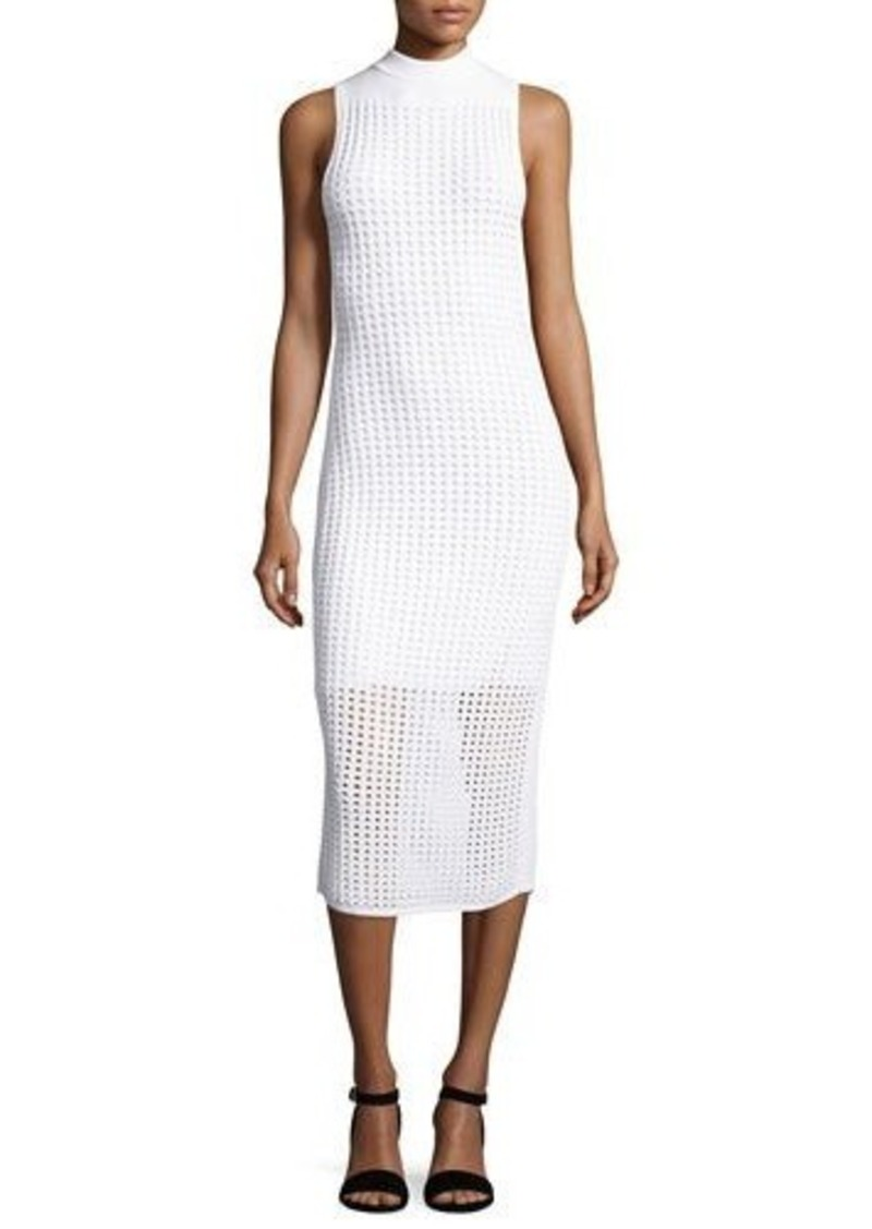 Rag & Bone Ingrid Sleeveless Eyelet Mesh Midi Dress