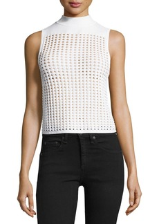 Ingrid Sleeveless Eyelet Mesh Top