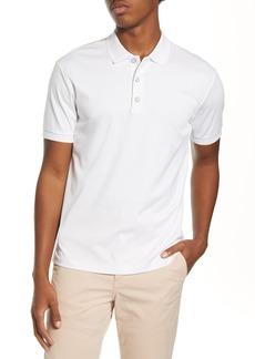 rag & bone Interlock Slim Fit Heathered Polo Shirt