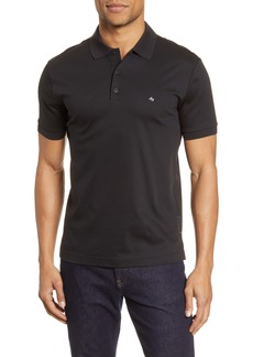 rag & bone Interlock Slim Fit Heathered Polo Shirt