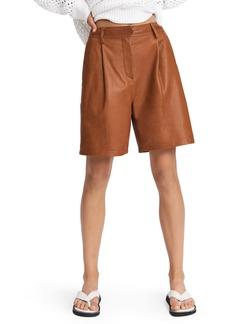 rag & bone Ivy Leather Shorts