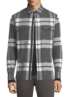 Rag & Bone Men's Jack Brushed Flannel Shirt Jacket
