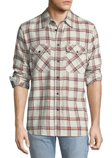 Rag & Bone Men's Jack Plaid Shirt with Elbow Patches