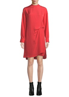 Rag & Bone Jacklin Draped Long-Sleeve Shift Dress