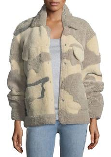 Jake Shearling Camouflage Jacket