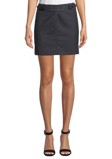 Rag & Bone James Check Wool Short Skirt