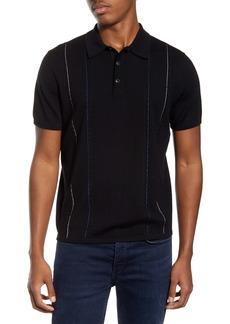 rag & bone Jamison Stripe Wool Blend Polo Sweater