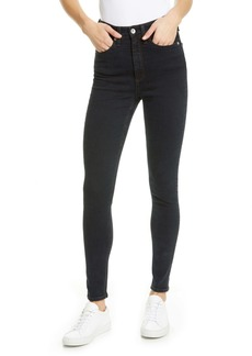 rag & bone Jane High Waist Skinny Jeans (Black Bird)