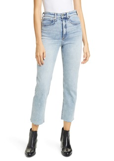 rag & bone Jane Super High Waist Ankle Cigarette Jeans (Dakota)