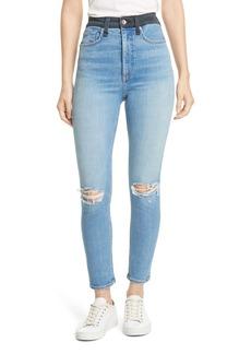 rag & bone Jane Super High Waist Ankle Skinny Jeans (Dara)