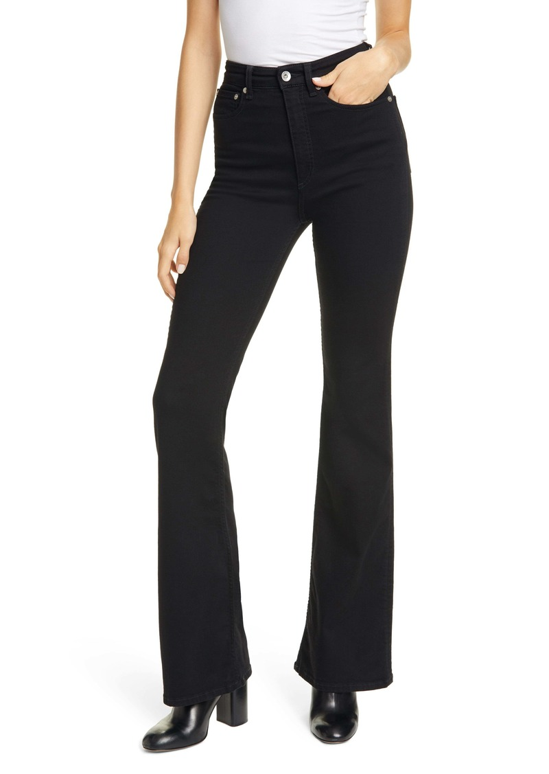 rag & bone Jane Super High Waist Flare Jeans