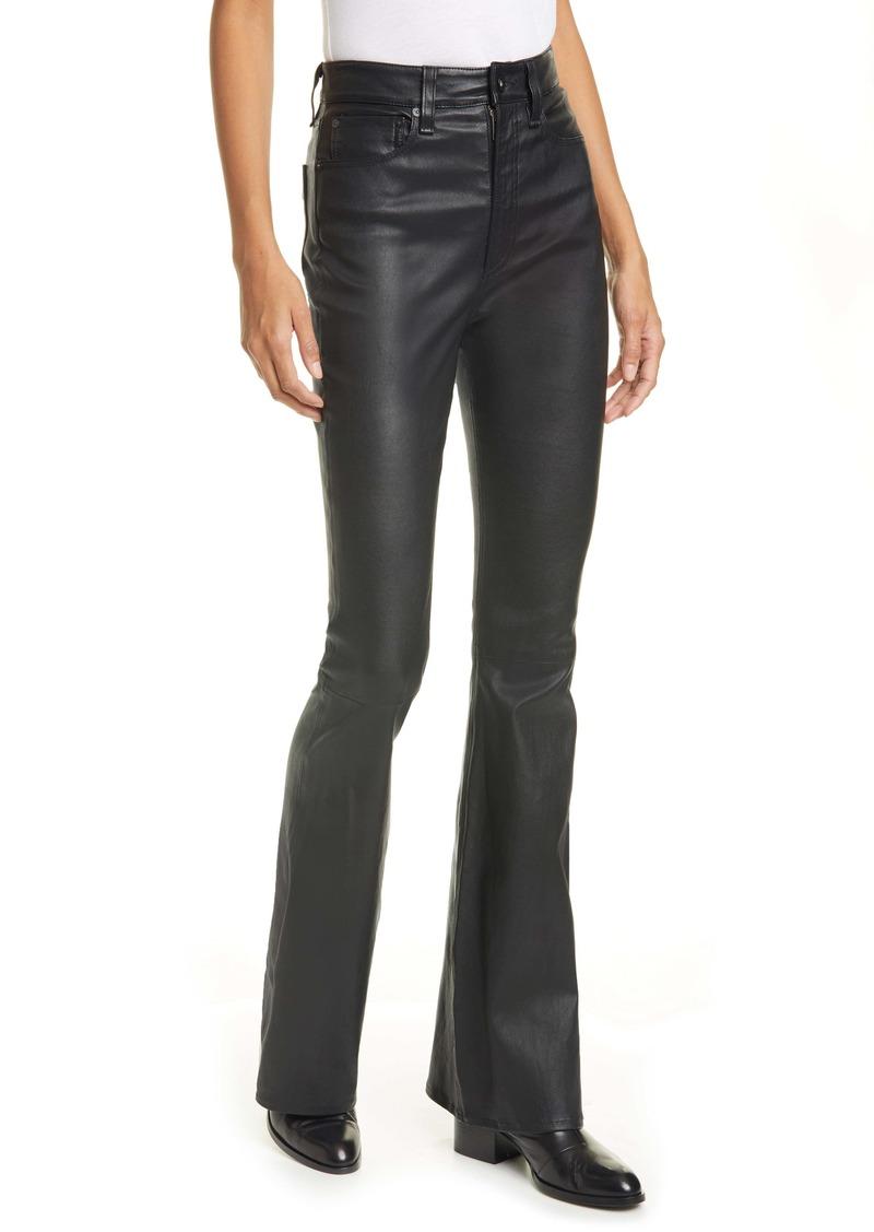 rag & bone Jane Super High Waist Leather Flare Pants