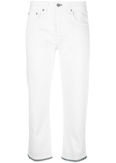 Rag & Bone /Jean cropped jeans with contrast hem - White