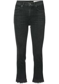 Rag & Bone /Jean cropped raw hem jeans - Black