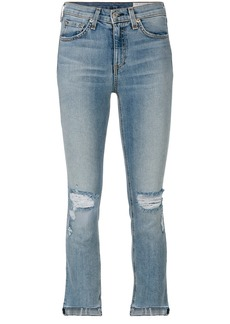 Rag & Bone /Jean distressed cropped jeans - Blue