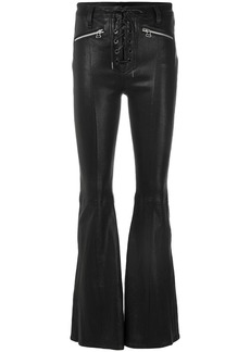 Rag & Bone /Jean flared trousers with criss cross lace-up - Black