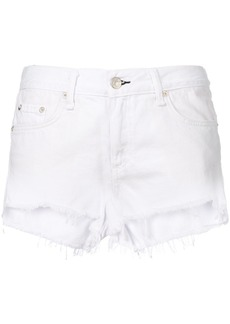 Rag & Bone /Jean frayed hem denim shorts - White