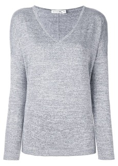 rag & bone melange v neck jumper
