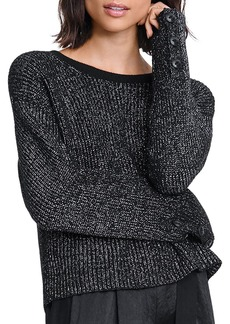 rag & bone Jubilee Metallic Ribbed-Knit Sweater