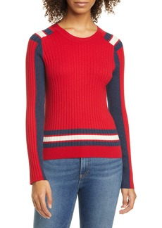 rag & bone Julee Ribbed Colorblock Merino Wool & Cotton Sweater