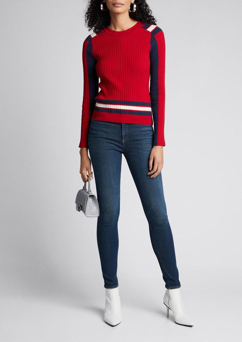 Rag & Bone Julee Striped Crewneck Sweater