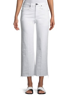Rag & Bone Justine High-Rise Wide-Leg Ankle Jeans w/ Released Hem