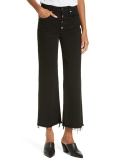 rag & bone Justine High Waist Cutoff Wide Leg Jeans