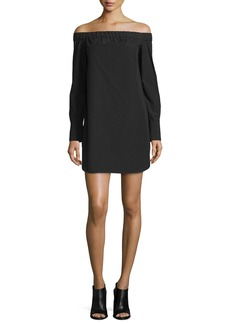 Rag & Bone Kacy Off-the-Shoulder Poplin Mini Dress