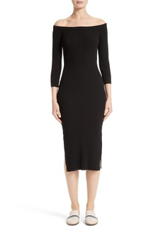 rag & bone Kari Knit Off the Shoulder Dress