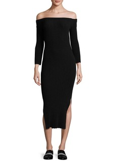 Rag & Bone Kari Off-The-Shoulder Midi Dress