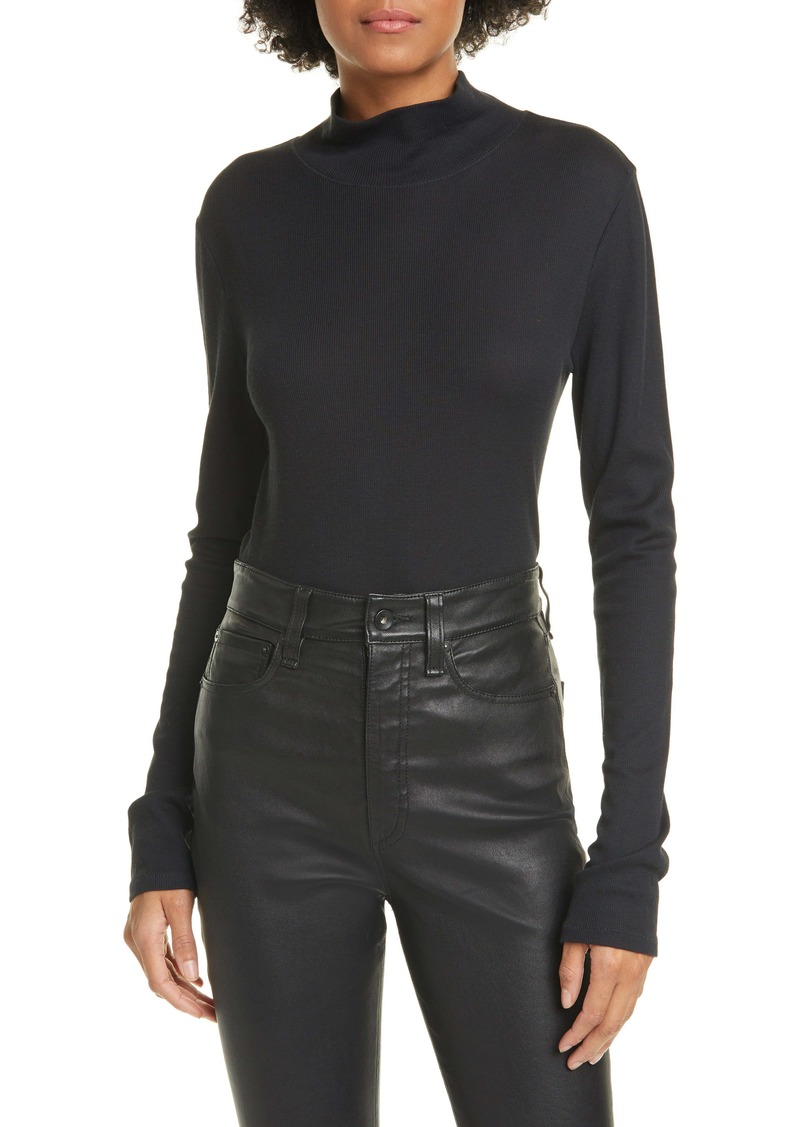 rag & bone Kari Ribbed Long Sleeve T-Shirt