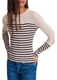 rag & bone Kate Stripe Cotton & Cashmere Sweater