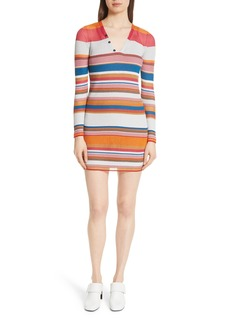rag & bone Katie Metallic Stripe Dress