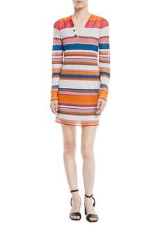 Rag & Bone Katie Striped Long-Sleeve Mini Dress