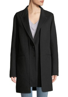 Rag & Bone Kaye Wool Single-Button Coat with Vest