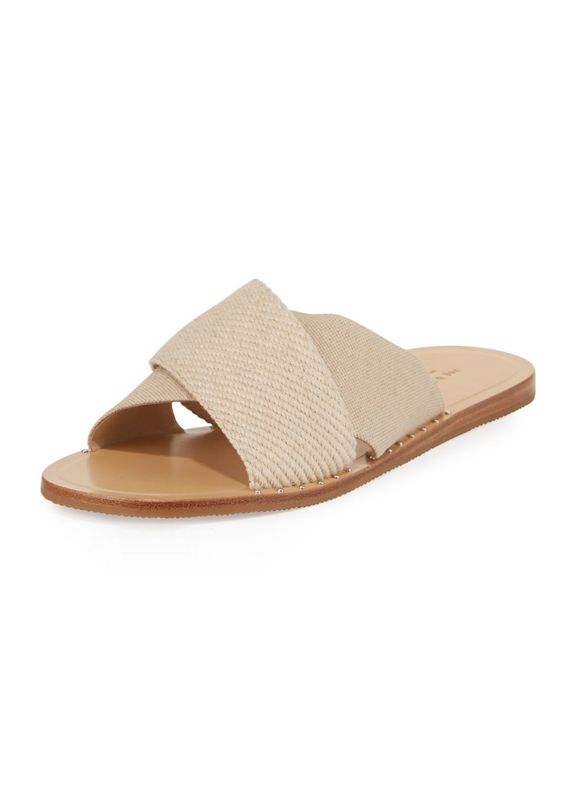 Rag & Bone Keaton Flat Crisscross Canvas Slide Sandals