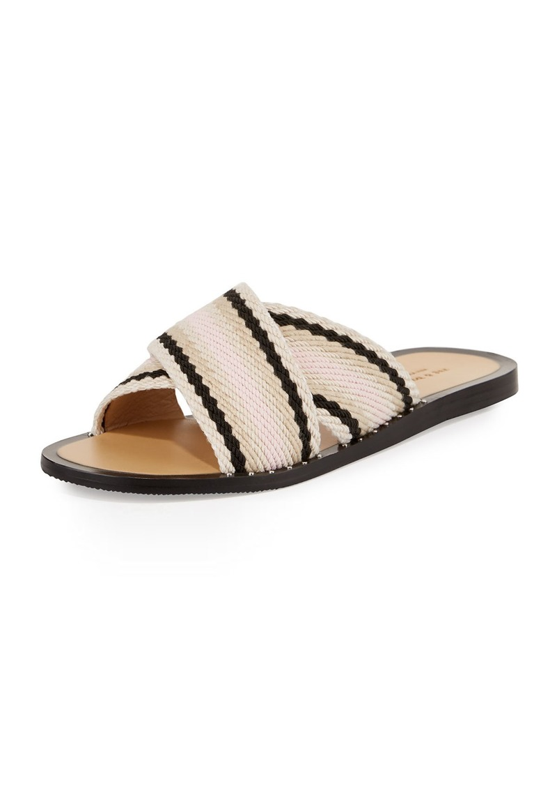 Rag & Bone Keaton Flat Crisscross Slide Sandals