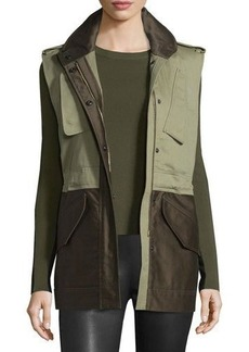 Rag & Bone Kinsley Cotton Colorblock Vest