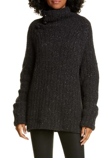 rag & bone Klark Ribbed Wool Blend Mock Neck Sweater