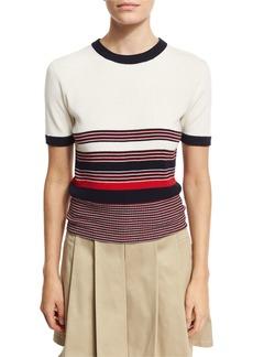 Rag & Bone Krista Striped Short-Sleeve Sweater