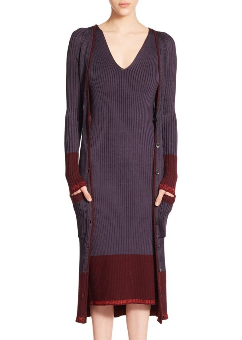 Rag & Bone Kristin Ribbed Long Cardigan
