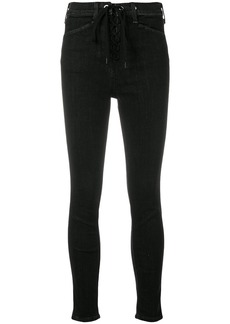 Rag & Bone lace fastening skinny jeans - Black