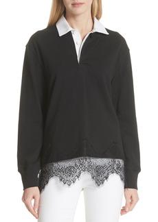 rag & bone Lace Trim Rugby Sweater