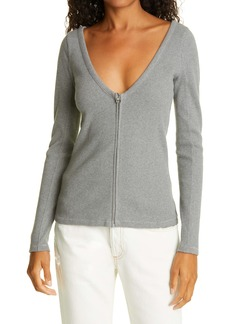 rag & bone Laila Long Sleeve Zip-Front Top
