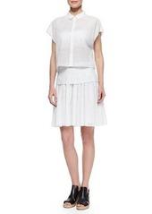 Rag & Bone Lakewood Netted Pleated A-Line Skirt
