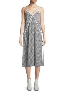 Rag & Bone Laurie Check Side-Button Tank Dress