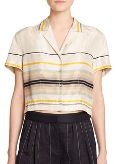 Rag & Bone Layne Cropped Silk Shirt