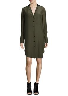 Rag & Bone Leighton Long-Sleeve Silk Shirtdress